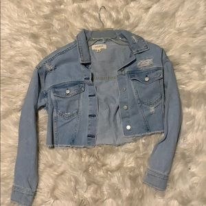 PacSun crop boyfriend denim jacket
